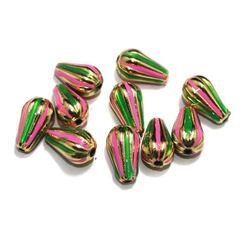 10 Pcs Drop Beads , Size 20x11 mm