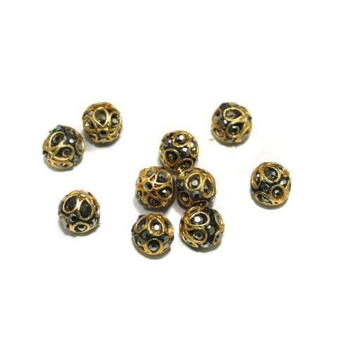 10 Pcs Round CZ Beads, Size 8 mm