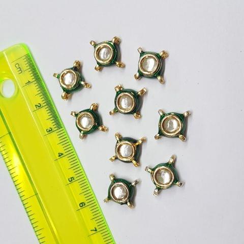 Round Kundan Beads With Jump Ring, Jewelry Making Beads, 15mm, 20pcs
