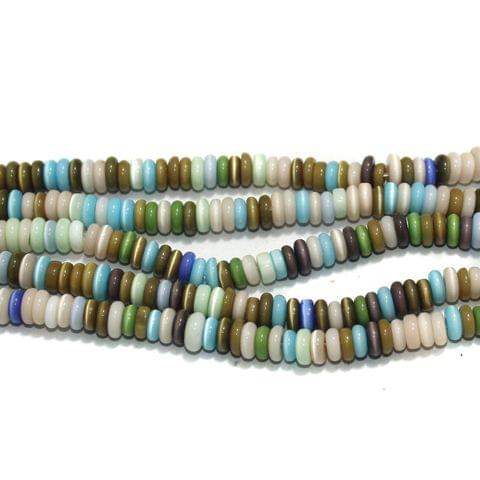 5 Strings Cat's Eye Donut Beads Multi 6x3 mm