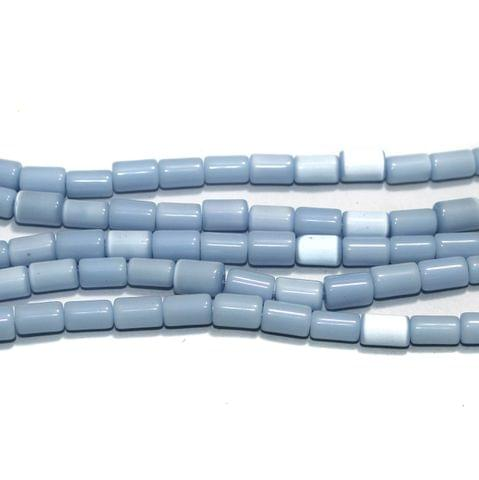5 Strings Cat's Eye Tyre Beads Sky Blue 10x6 mm