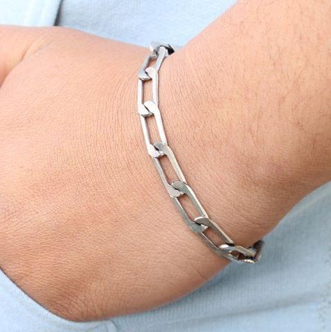 Oxidised Silver Link Bracelet