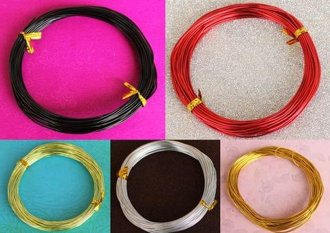 Aluminium Colored Wire Combo 1mm(18 Gauge)