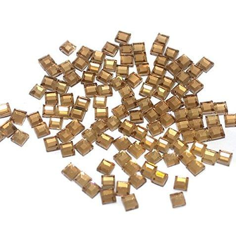 50 Gms Glass Mirror Beads Cube Shape, Size 4mm
