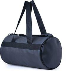 TDL Navy Blue Leather Sports and Duffle Fitness Gym Bag