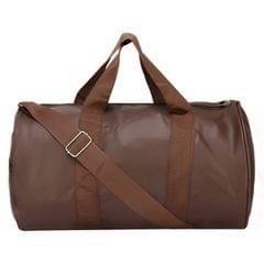 TDL Navy Brown Leather Sports and Duffle Fitness Gym Bag