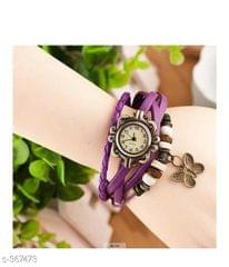 Elegant Woman's Watch Butterfly (Magenta)