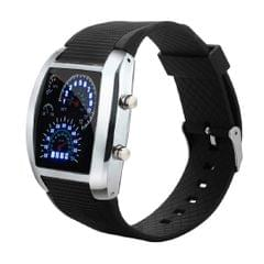 Popmode Black Dial Silicon Strap Men's Fashion Casual Digital Watch-Extra Battery Included