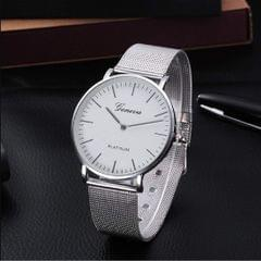 Popmode Exclusive Metallic Series Analog Silver Watch for Men's & Women's