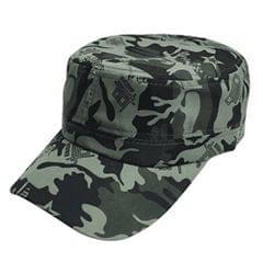 Popmode Hat Men's Summer Military Jungle Cotton Camouflage Flat Cap