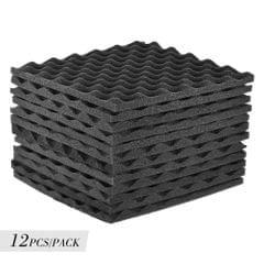 12 Pack Studio Acoustic Foams Panels Sound Insulation Foam - Pack of 12pcs