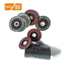 25pcs 100mm Premium High Density Calcined Aluminum Oxide - 80