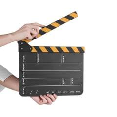 Dry Erase Acrylic Director Film Clapboard Movie TV Cut - black board