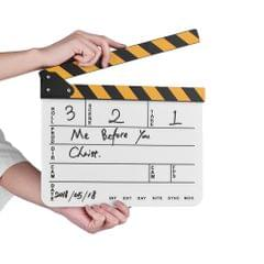 Dry Erase Acrylic Director Film Clapboard Movie TV Cut - white board
