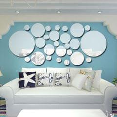 26pcs/set Acrylic Polka Dot Wall Mirror Stickers Room