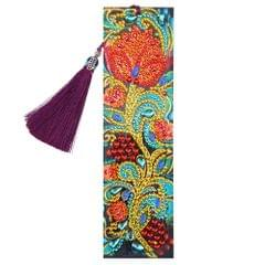 5D Special Shaped Diamond Leather Book Marker with Tassel - 4