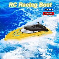 RC Boat for Kids Adult 10KM/H High Speed 2 Channels Remote