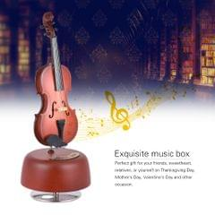 Classical Wind Up Violin Music Box with Rotating Musical - Violin Music Box