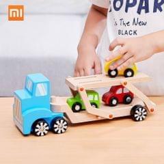 Xiaomi BEVA 6pcs Natural Wooden Building Blocks Toys Truck