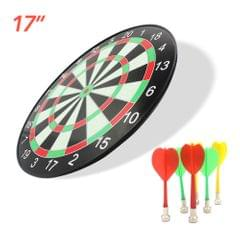 17inch Plastic Dartboard Dart Board Game Set with 6 Magnetic - 17 inch