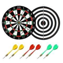 17in Double Side Dartboard Professional Dart Board Game Set - 17 inch