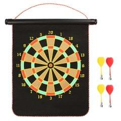 12-inch Magnetic Dart Board Darts  Double Sided Rollup - 12 inch