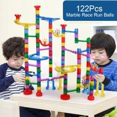 122Pcs Marble Run Toy Marble Game Educational Construction - type2