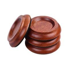 4pcs/Set Upright Piano Caster Cups Coaster Solid Wood with - PA-9 Sapele