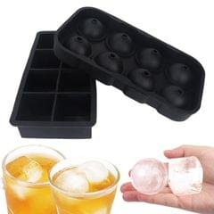 2PCS Ice Cube Trays Release Round & Square Shaped 8 Grids