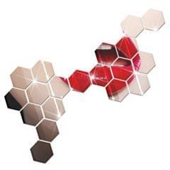 12Pcs Hot Sale Modern Design Adhesive Hexagonal 3D DIY