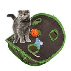 Hide and Seek Mouse Cat Toy 9 Holes Interactive Pet Cat