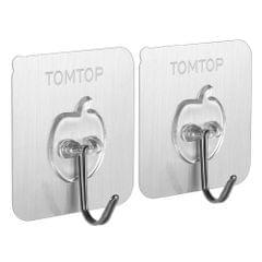TOMTOP 2pcs/set Hooks Wall Hook Set of 2 Sticky Hooks