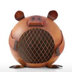 Lovely Piggy Bank Money Saving Bank for Kids Iron Coin Bank