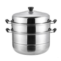SUS560-3  Thick Stainless Steel Three-layer Steamer Cookware