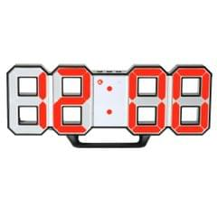 Multifunctional Large LED Digital Wall Clock 12H/24H Time - Black Shell & Red Light