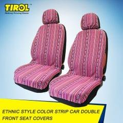 4-piece Tirol Universal Double Front Seat Covers Color Strip