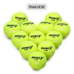 Pack of 12 Pressureless Tennis Balls with Mesh Bag Rubber - 12