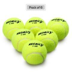 Pack of 6 Pressureless Tennis Balls with Mesh Bag Rubber - 6