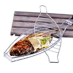 Fish Grilling Basket Non-Stick Barbecue Basket Detachable