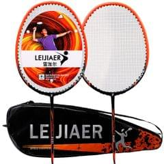 LEIJIAER 2pcs Badminton Racket competition Plume 2 Player - 2