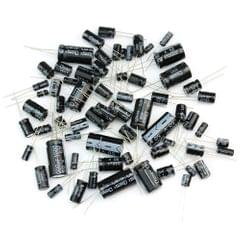 125Pcs Commonly Used Total Electrolytic Capacitor Assortment