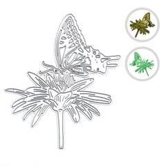 Christmas Metal Cutting Dies Tree Flower Butterfly Shape - Type 5