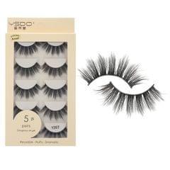 Anself 5 Pairs 3D Fake Eyelashes False Eyelashes Handamde - Y207