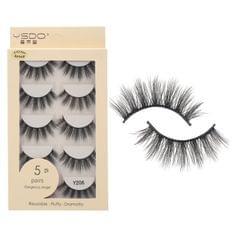 Anself 5 Pairs 3D Fake Eyelashes False Eyelashes Handamde - Y206