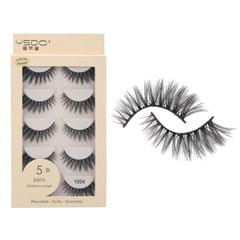 Anself 5 Pairs 3D Fake Eyelashes False Eyelashes Handamde - Y204