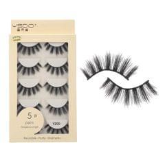 Anself 5 Pairs 3D Fake Eyelashes False Eyelashes Handamde - Y200