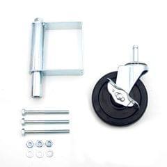 Heavy Duty Rubber Mute Spring Loaded Gate Door Wheel Caster - 5