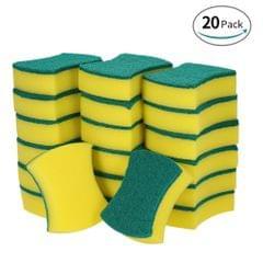 Esonmus 20pcs Multi-purpose Double-faced Sponge Scouring