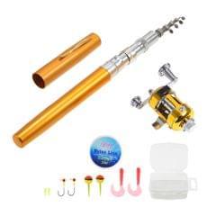 Fishing Rod and Reel Combo Set Telescopic Pocket Pen Fishing