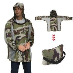 Breathable Bug Jacket with Zippered Hood Mosquito Repellent - S